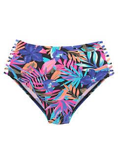 08f85296bb6 Bench 'Pitch' High Waist Multi Print Full Bikini Briefs