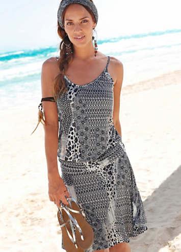 buffalo london printed beach dress  lascana