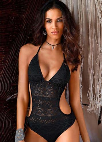 hot sale retail prices innovative design LASCANA Lace Look Monokini | LASCANA