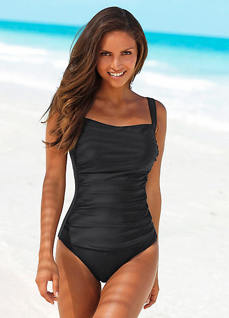 LASCANA Sassy Slim Effect Ruched Swimsuit  73c32d2db