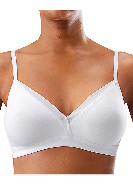 86890183d3a6d Petite Fleur Pack of 2 Non Underwired Bras